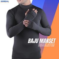 Baselayer Baju Manset Olahraga Pria Thumbhole Uv Protect M-XL