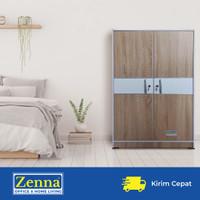 Zenna lemari pakaian 2 pintu london / lemari anak / baby locker - List putih, Packing