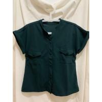 Atasan wanita / blouse / baju kekinian / kemeja simpel murah - Hijau Army