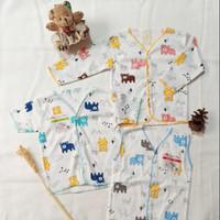 Baju Kutung Lengan Pendek Panjang Bayi Baru lahir Laki Perempuan 6Pcs
