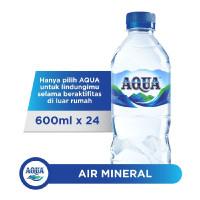 Aqua Air Mineral Botol 600 ml (24 btl/dus)