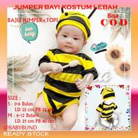 Baju Bayi Jumper Karakter Kostum Lebah Jumpsuit Baby Bayi Baru Lahir - S