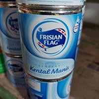 susu frisian flag kaleng 1pcs ( putih/coklat/gold ) - Putih