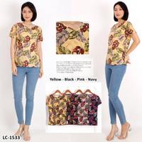 Kaos Oblong Wanita Baju Murah Atasan Polos Melar Jumbo LC1533Big Size