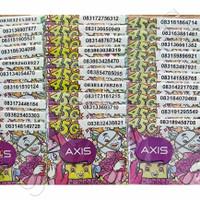 Kartu Perdana Axis Nomor Acak Tengah Super Pulsa 0k Reguler