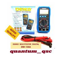 DEKKO MULTITESTER MULTIMETER AVOMETER DIGITAL DM 136A GOOD QUALITY ORI