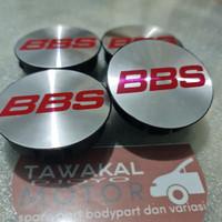 dop velg tutup as center velg variasi motif BBS merah 6cm