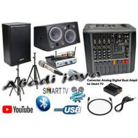 paket karaoke sound system ashley studio 4 diva 210 voice 1 original