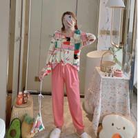 Baju tidur wanita piyama import stelan PP kaos big size //PP PK RIBBON