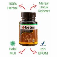 Obat Diabetes Kencing Manis Basah Kering d-betus Herbal Asli BPOM