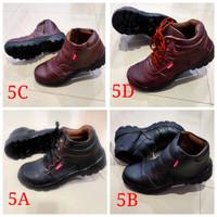 sepatu safety boots bahan kulit sapi asli free jahit + ujung ada besi