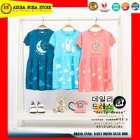 Dress Kaos Anak / Kaos Anak Perempuan / Daily Dress HOOFLA KIDS - HDD - Pink Salem, XS