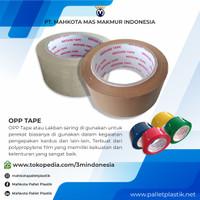 OPP Tape / Lakban / Isolasi Bening & Coklat