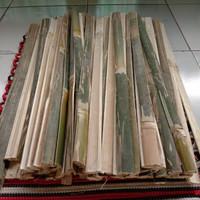 Batang Bilah Bambu Pagar Tanaman Turus Bambu Ujur Tanaman 100x2 cm
