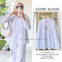 Baju Atasan Wanita Muslim Satine Blouse Linen Ramy HQ Polos Ibu Busui