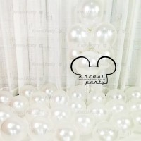 Balon Putih Metalik