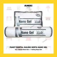 [PAKET] 1 Bantal + 1 Guling Serta Nano Gel/Nanogel Pillow Bolster