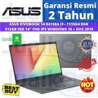 ASUS VIVOBOOK 14 K413EA i3 - 1115G4 8GB 512GB SSD 14FHD IPS W10 + OHS