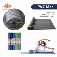 Matras Yoga Pemula/ Studio PVC Tebal 4 mm Berat 1/2 kg