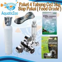 Paket 4 Tabung CO2 besi 5kg besi full isi - Aquascape - CO2 supplies