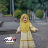 Gamis lucu Anak Baju Muslim Balita - AMMORA - Kuning, XXS