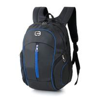 Tas Backpack Ransel Pria Terbaru Bahan Cordura by Kelvas - Hitam, All Size