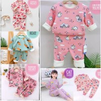 IMPORT Piyama Anak Perempuan 0-9 Thn Setelan PP Baju Tidur Bayi Cewek
