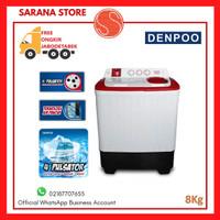Mesin Cuci Denpoo 2 Tabung DW 8308 (8Kg) FREE ONGKIR!