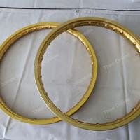Sepasang Velg Jari Gold ring 17 Rossi Master n Jinfei 120 140 bekas
