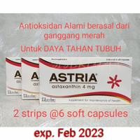 ASTRIA Astaxanthin 4 mg suplemen daya tahan tubuh anti oksidan