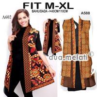 Tunik batik baju batik fashion muslim atasan batik wanita gamis A588