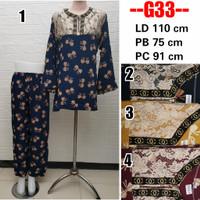 Grosir Baju Tidur Rayon PP Renda Arab / Tie Dye Set / One Set Bus G33