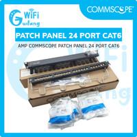 AMP COMMSCOPE PATCH PANEL 24 PORT CAT6