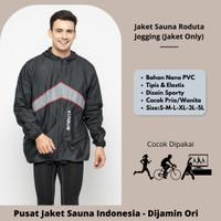 Jaket Sauna Roduta Jogging Hitam- Jaket Atasan Saja