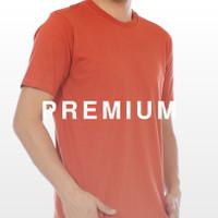 Kaos Polos Terracotta Warna Merah Bata Orange Cotton Combed 30s Katun