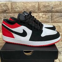 Sepatu Nike AirJordan Low 1 Pria Sneakers Basket Olahraga Terbaru 2021 - Merah, 38