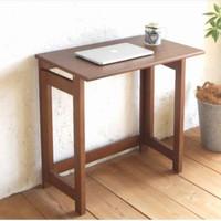 meja kantor, meja kerja, meja laptop minimalis kayu jati asli