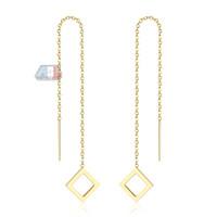 Anting Parallelogram Gold Plated 18k | Anting Wanita Lapis Emas