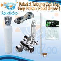 Paket 2 Tabung CO2 besi 5kg besi full isi - Aquascape - CO2 supplies