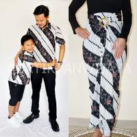 Baju Couple Batik Family Mama Rok Lilit Papa Anak Kemeja Parang Jogja - ROK LILIT