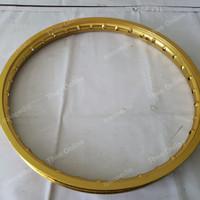 Velg Pelg Jari Aluminium Jinfei Gold W Shape 120 ring 17 bekas mulus