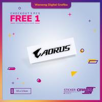 Cutting Sticker PC / Laptop Aorus  Stiker Gigabyte Aorus