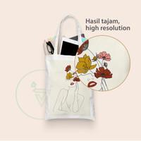 Tote Bag Custom Full Color Print Digital bahan Baby Canvas