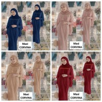 WNX - Maxi Corvina / Baju Gamis Wanita / Pakaian Muslim Kombi Brukat