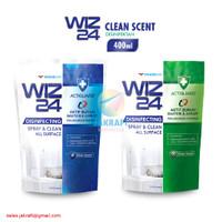 WIZ24 Refill Disinfectant Spray WIZ 24 Fresh & Clean 400 ml Pouch