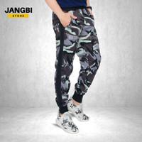 Celana Pria Jogger Training Joger Pants Baby Terry Army Abu Lis Hitam