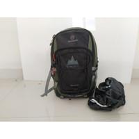 Tas Backpack Ransel Pria Sacma Bahan Dinir - Hijau, All Size