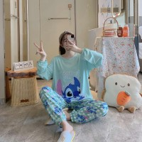 Baju tidur wanita piyama import stelan PP kaos big size //PP STITCH AQ
