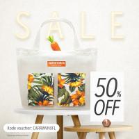 Tas Belanja / Grocery Bag - Orange Tropical