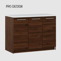 Pro Design Oklava Kabinet Dasar Dapur Dengan 3 Pintu